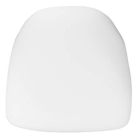 white chiavari cushion with velcro hard white fabric chiavari chair cushion