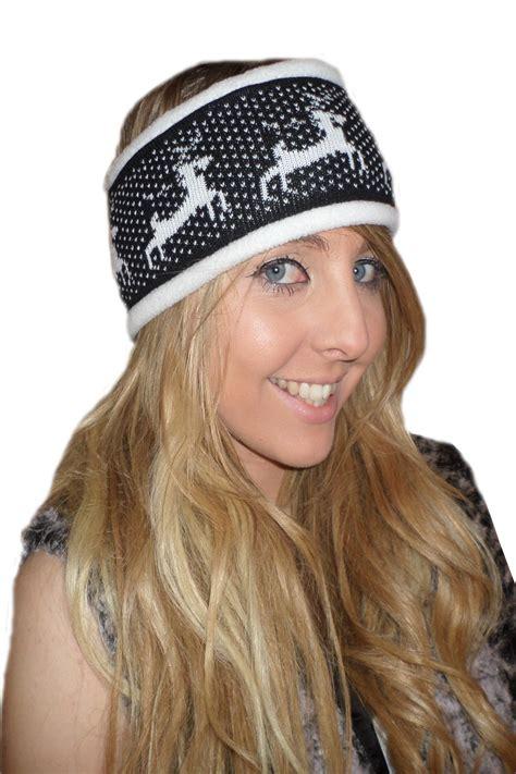 Fleece Hair Band womens reindeer headband boutique new soft fleece