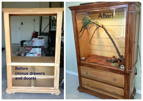 armoire terrarium armoire turned into reptile vivarium our dinosaur
