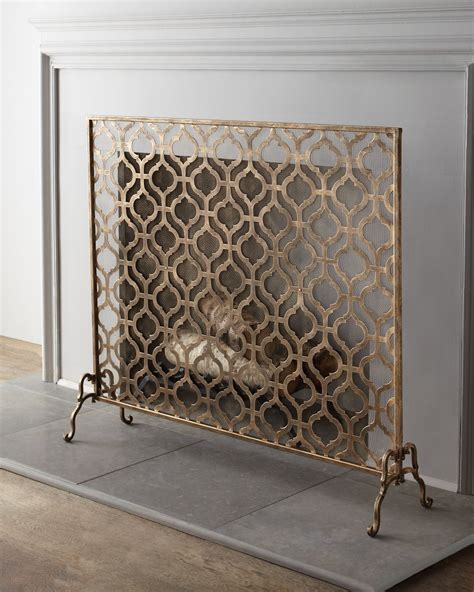 Fireplace Screen Single Panel fireplace screen home