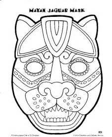 ancient mask template mayan mask template search wednesday