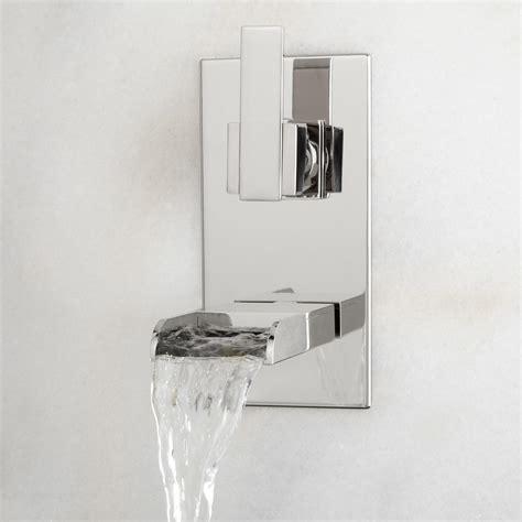 signature hardware maleko wall mount waterfall tub faucet signature hardware willis wall mount bathroom waterfall