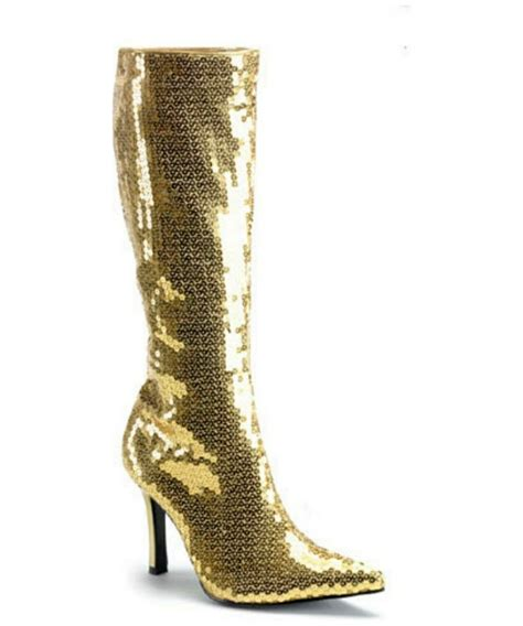 sequin shoes gold sequin boots costume shoes