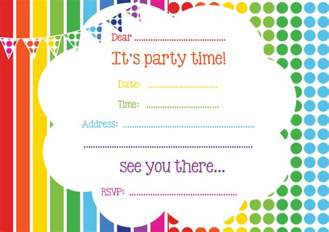 birthday invitations templates free printable free rainbow invitation free invitations by