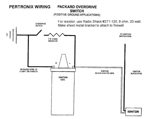 pertronix ignition resistor wire pertronix coil wiring diagram electrical schematic