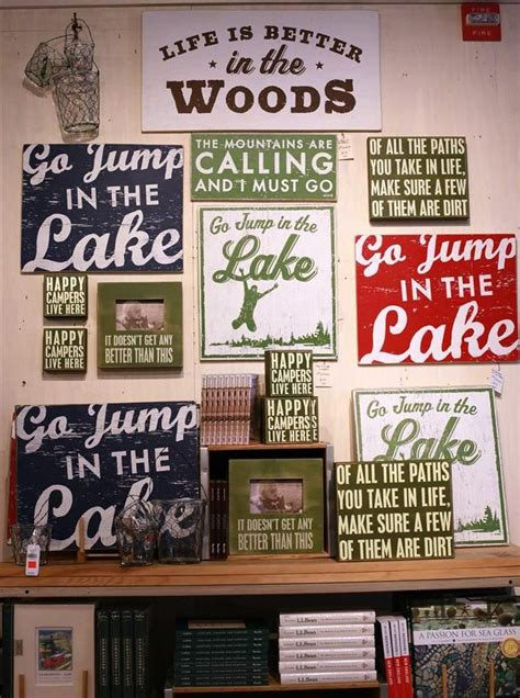 painted signs available at the llbean freeport maine