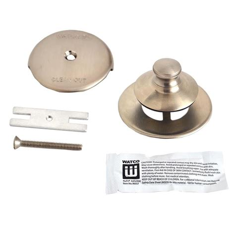 bathtub overflow stopper watco universal nufit push pull bathtub stopper 1 hole