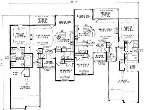 duplex home plans charming duplex house plan 59338nd 1st floor master