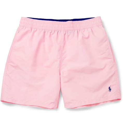 ralph lauren ottoman swimsuit lyst polo ralph lauren mid length swim shorts in pink