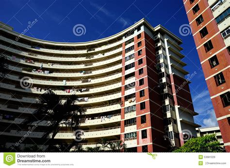 hdb government subsidized housing editorial photo image