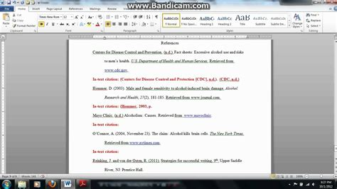 apa citation template apa in text citation website