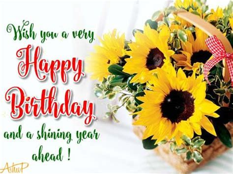 Sunny Birthday Flowers & Wishes! Free Birthday Wishes