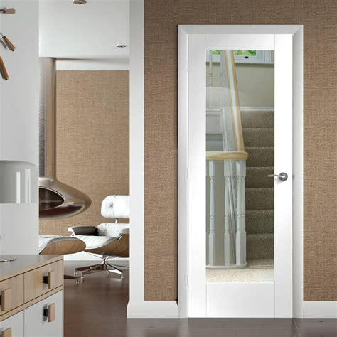 Pattern 10 White Primed Door With Clear Safety Glass