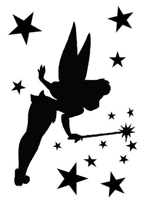 tinkerbell template tinkerbell stencil search silhouettes