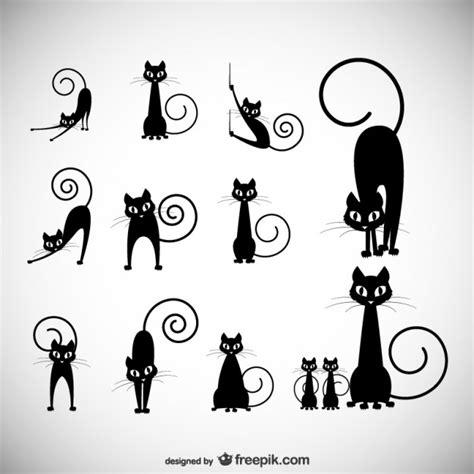 imagenes vectoriales gratis siluetas patas de gato fotos y vectores gratis