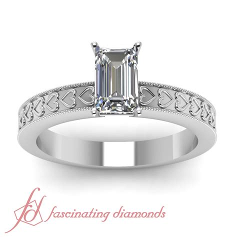 1 2 carat emerald cut si1 e color engraved