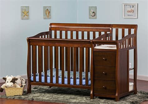 Convertible Crib With Changer Useful Convertible Crib With Changing Table For Baby