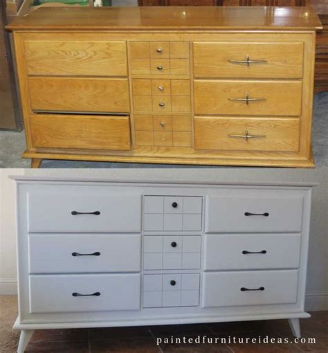 How To Paint A Dresser White by Small Mid Century Dresser Painted White Painting