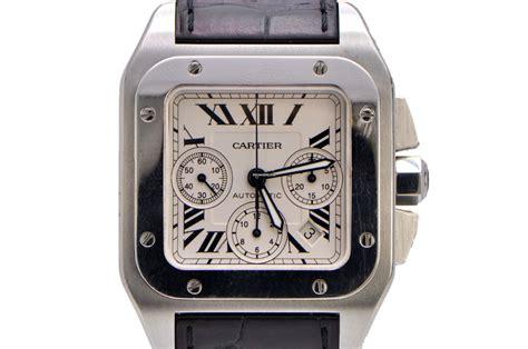 Cartier Santos 100xl cartier santos 100 xl chronograph stainless steel for