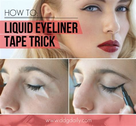 eyeliner tutorial tape scotch tape eyeliner tutorial repeat possessions blog