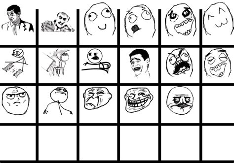 Meme Cartoon Faces - cartoon faces brushes set free photoshop brushes at