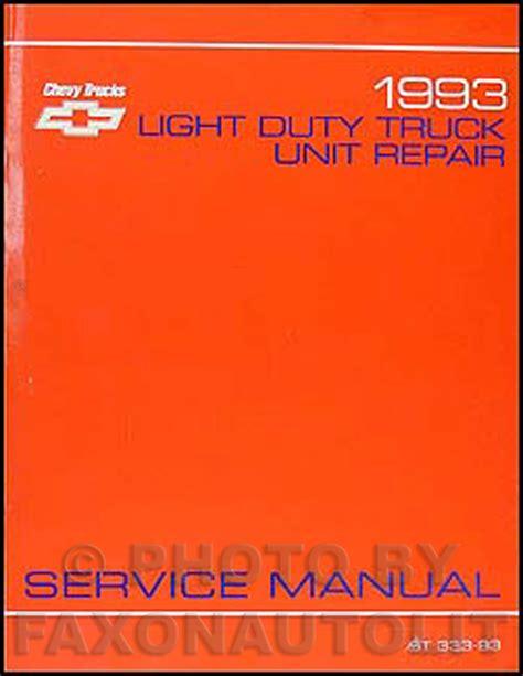 service and repair manuals 1993 chevrolet blazer lane departure warning 1993 chevy c k pickup suburban blazer wiring diagram manual original