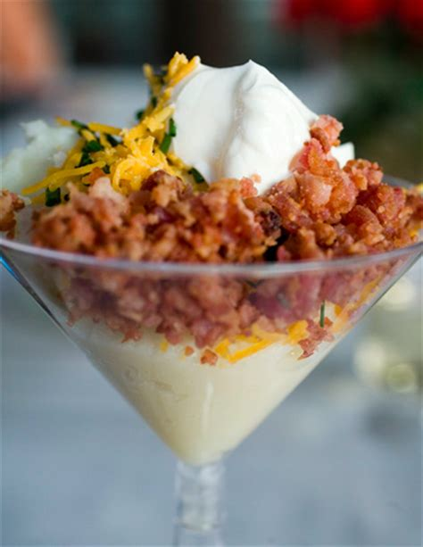 mashed potato martini bar toppings eat drink and be married