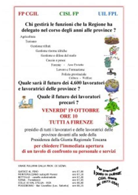 ufficio impiego siena lavoratori delle province venerd 236 19 ottobre presidio a