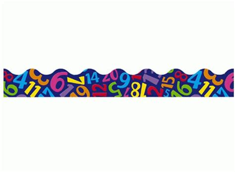 Decorative Bulletin Boards For Home Number Tumble Classroom Display Border