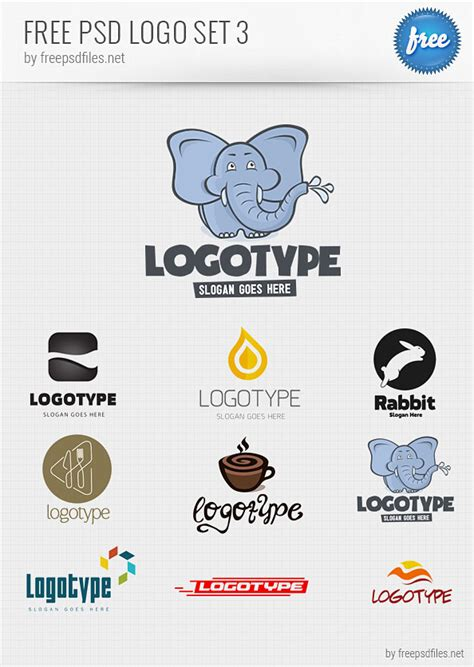 logo design templates free psd logo design templates pack 3 free psd files