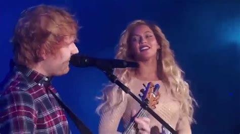 ed sheeran ft beyonce perfect watch ed sheeran sang drunk in love with beyonce and we
