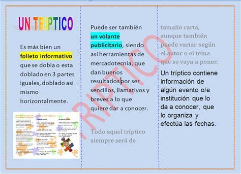 ejemplos de tripticos tripticos ejemplos imagui