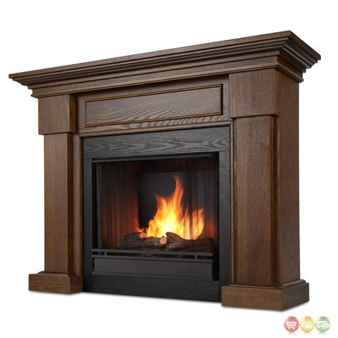 Ventless Fireplace by Hillcrest Ventless Gel Fuel Fireplace In Chestnut Oak With