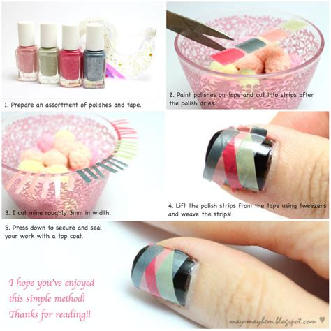 full tutorial with hints and tips at nail art 101 http 14 nail tutorials with tape tricks pretty designs
