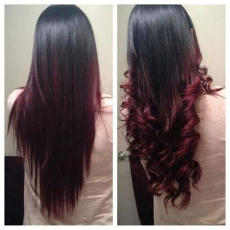 hair lighter shade on bottom ombr 233 hair cerise la couleur tendance pour les brunes