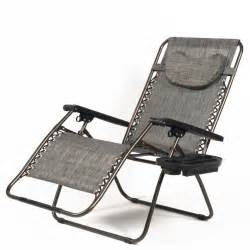 Zero Gravity Outdoor Recliner New Set Of 2 Zero Gravity Chair Xl Oversize Chairs Outdoor Recliner W Tray Ebay