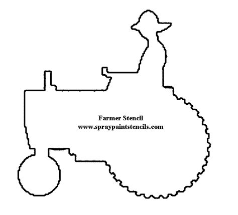 tractor template printable tractor printable stencils children