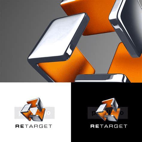 retarget  cube technology logo pixellogo