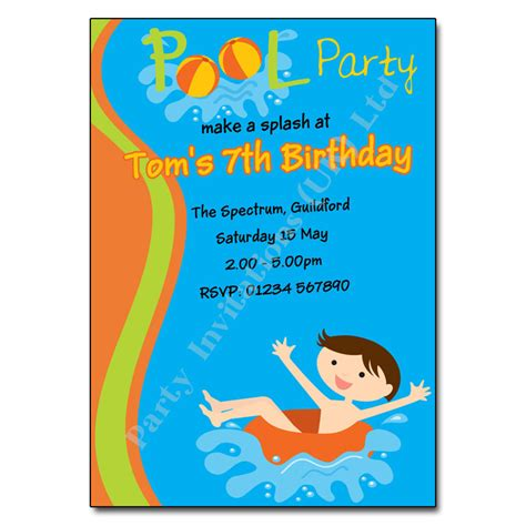 swimming invitation template pool swimming invitation invites