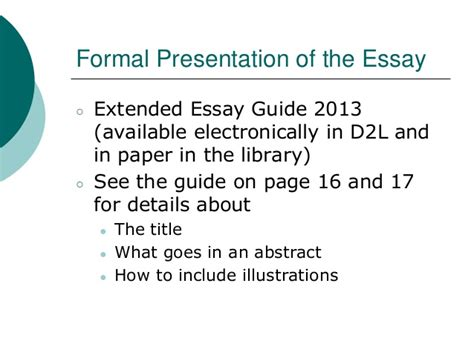 Extended Essay Guide by Extended Essay At St Robert
