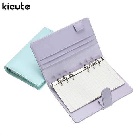 Leaf Notebook M kicute a6 color leather cover leaf notebook