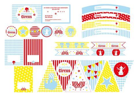 Decor Cirque A Imprimer by Kit Deco Anniversaire Theme Cirque Enfant Achat Vente