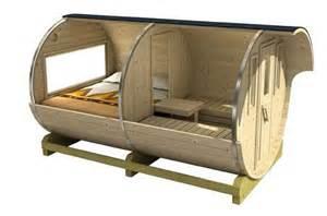 Architectural Plans For Sale 3 3m barrel camping pod garden pod