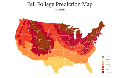 foliage map this interactive fall foliage map shows you when leaves start changing color
