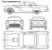 CAR Blueprints  Ford Thunderbird Vector