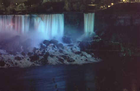 niagara falls night opinions on bridal veil falls niagara falls
