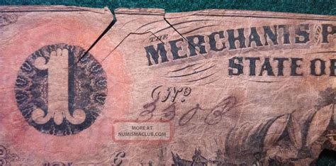 Merchants Planters Bank by 1859 Merchants Planters Bank One Dollar Note Ga
