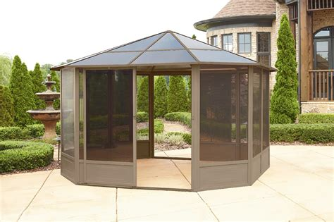 Hardtop Patio Gazebo Grand Resort 12x12 Hardtop Solarium Limited Availability Outdoor Living Gazebos Canopies