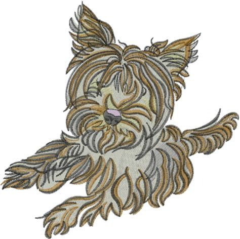 embroidery design yorkshire terrier animals embroidery design yorkshire terrier dog from