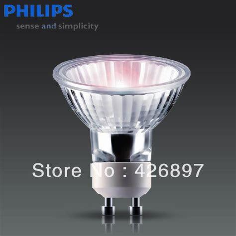 Lu Philips Essential 50 Watt philips essential halogen l 220v 230v 240v 35w 50w gu10 36d 2000 hours lighting aluminum
